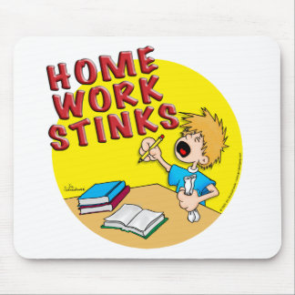 Homework Stinks! (boy) Mouse Pad