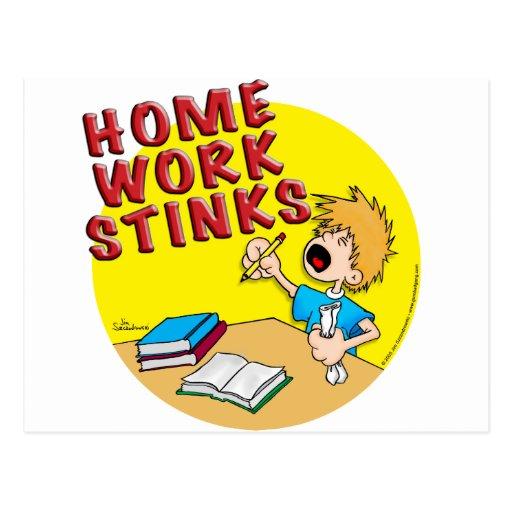 Homework Stinks! (boy) Postcard
