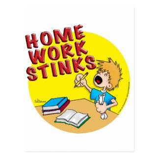 Homework Stinks boy Postcard