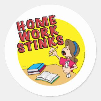 Homework Stinks (girl) Stickers