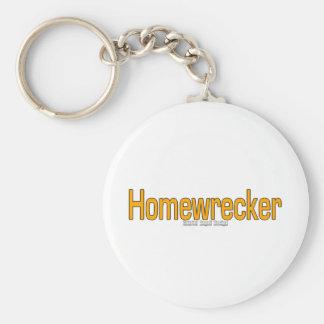 Homewrecker Basic Round Button Keychain
