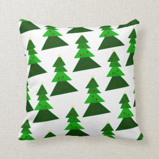 Homey Christmas Tree Pattern Throw Pillow