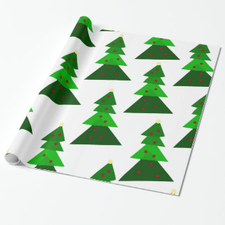 Homey Christmas Tree Pattern Wrapping Paper