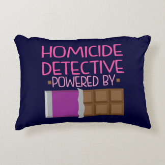 Homicide Detective Chocolate Gift for Her Decorative Pillow