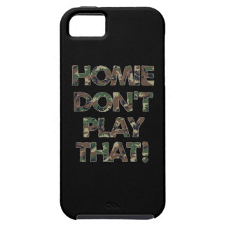 Homie Dont Play That Green Camouflage iPhone 5 Covers