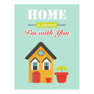 homie is more wherever, i to with you postcard