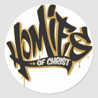Homies of Christ® Classic Round Sticker