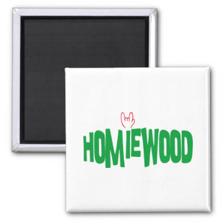 Homiewood California 2 Inch Square Magnet