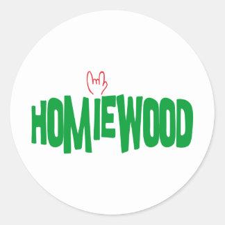 Homiewood California Classic Round Sticker