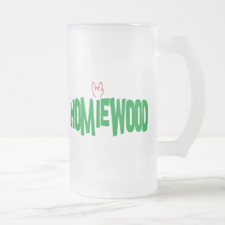 Homiewood California Frosted Glass Beer Mug