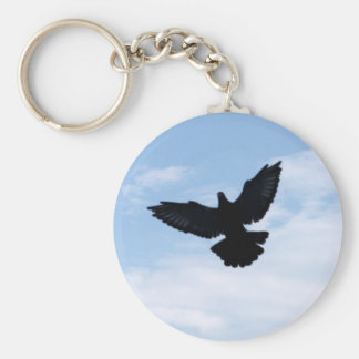 Homing Pigeon Coming Home Keychain
