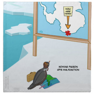 Homing Pigeon GPS Malfunction Cloth Napkin