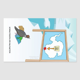 Homing Pigeon GPS Malfunction Rectangular Sticker