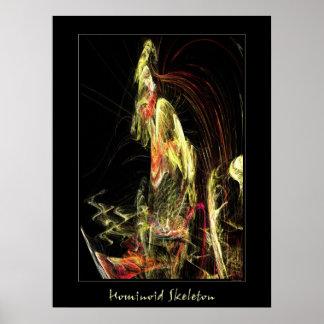Hominoid Skeleton Print
