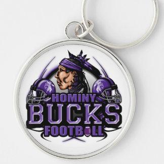 Hominy Bucks Football (tribal) Keychain