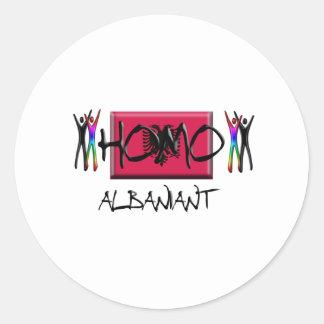 Homo Albania Classic Round Sticker