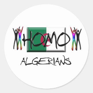 Homo Algeria Classic Round Sticker