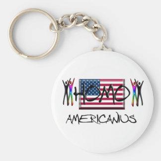 Homo America Basic Round Button Keychain