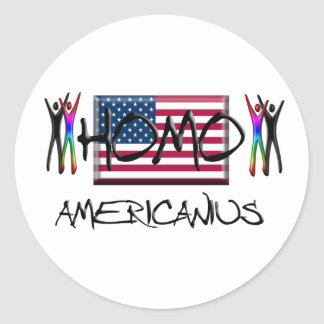 Homo America Classic Round Sticker