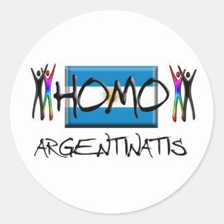 Homo Argentina Classic Round Sticker