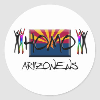 Homo Arizona Classic Round Sticker
