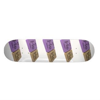 Homo as Ho Holmium and Mo Molybdenum Skateboard Deck