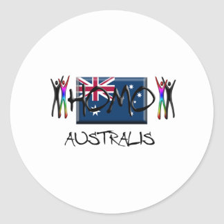 Homo Australia Classic Round Sticker