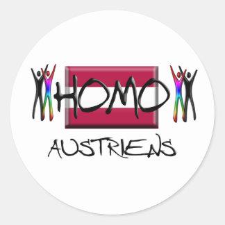 Homo Austria Classic Round Sticker