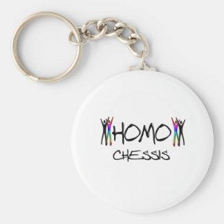 Homo chess basic round button keychain
