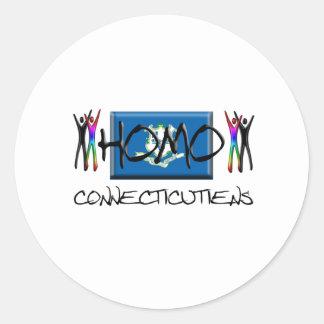 Homo Connecticut Classic Round Sticker
