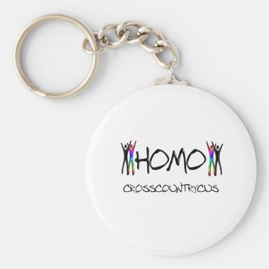 Homo cross country keychain