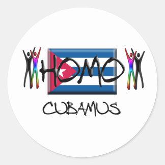 Homo Cuba Classic Round Sticker