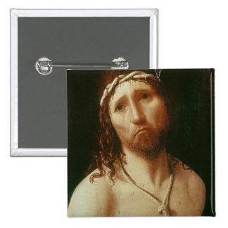Homo de Ecce (aceite en el panel) Pin Cuadrado