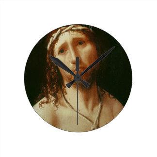 Homo de Ecce (aceite en el panel) Reloj Redondo Mediano