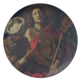 Homo de Ecce (aceite en lona) Plato
