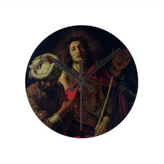 Homo de Ecce (aceite en lona) Reloj Redondo Mediano
