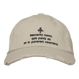 Homo del recuerdo, casquillo prestado - quaresimal gorra bordada