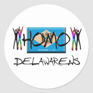 Homo Delaware Classic Round Sticker