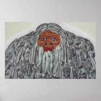 Homo-erectus 8.6 ft tall grey print
