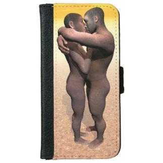 Homo erectus couple - 3D render Wallet Phone Case For iPhone 6/6s
