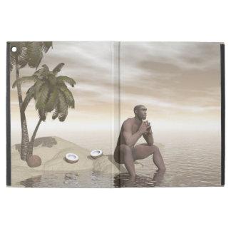 "Homo erectus thinking alone - 3D render iPad Pro 12.9"" Case"