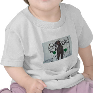 homo erectus with two legends of them. t-shirt