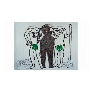 Homo erectus y leyendas tarjetas de visita