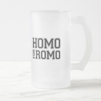 Homo for Romo Frosted Glass Beer Mug