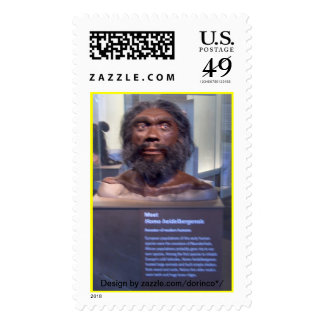 Homo heidelbergensis; museum exhibit stamps