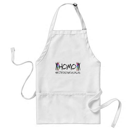 Homo heterosexual adult apron
