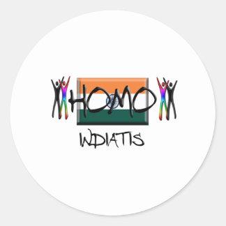 Homo India Classic Round Sticker