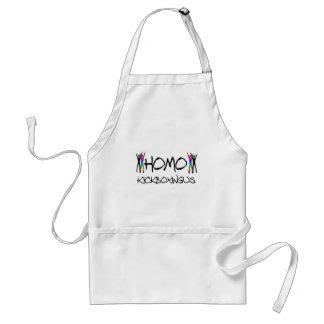 Homo kickboxing adult apron