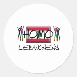 Homo Lebanon Classic Round Sticker