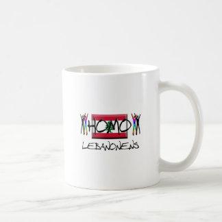 Homo Líbano Taza Básica Blanca
